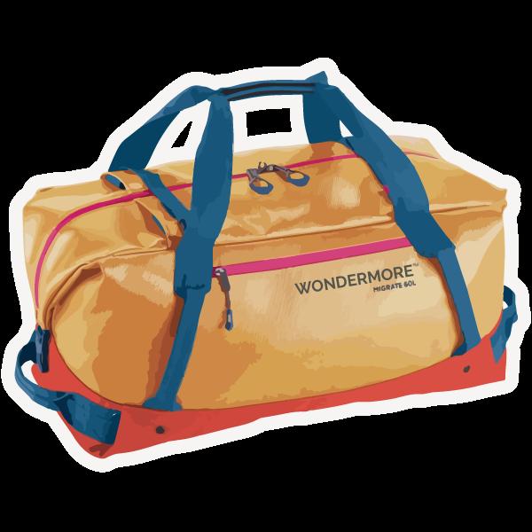 Soft duffle bag style luggage